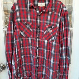 Demin & Supply Ralph Lauren Mens Plaid Shirt Sz XL